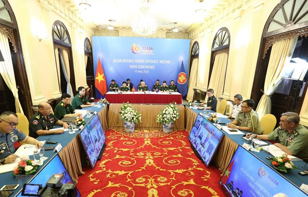ASEAN senior defence officials discuss cooperation in online meeting hinh anh 1