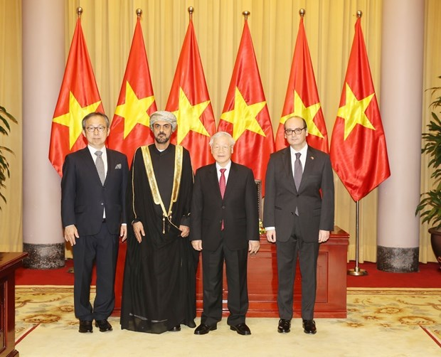 Top leader hosts new foreign ambassadors hinh anh 1