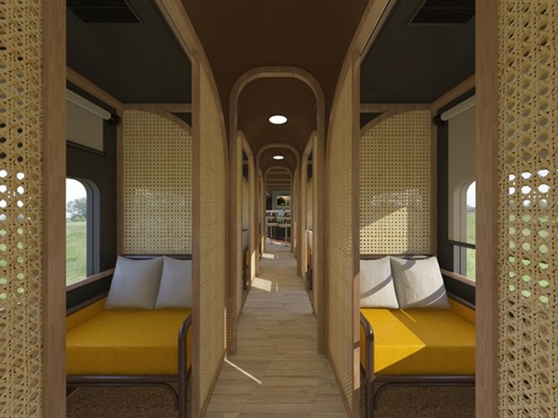 New train coach to offer luxury services in central region from July hinh anh 1