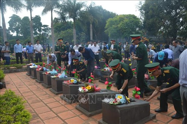 Gia Lai reburies martyr remains repatriated from Cambodia hinh anh 1