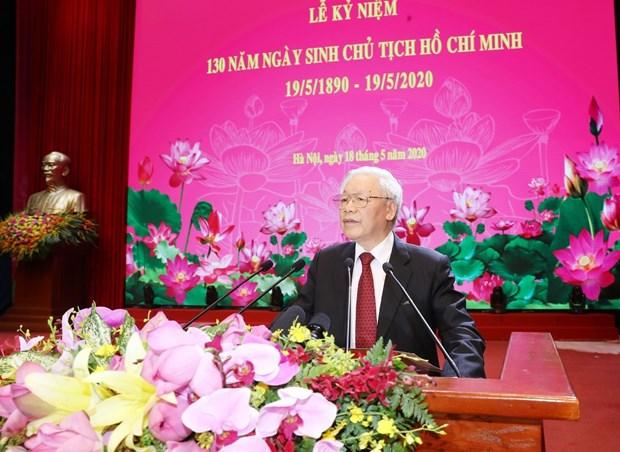 National ceremony marks President Ho Chi Minh's 130th birthday hinh anh 1