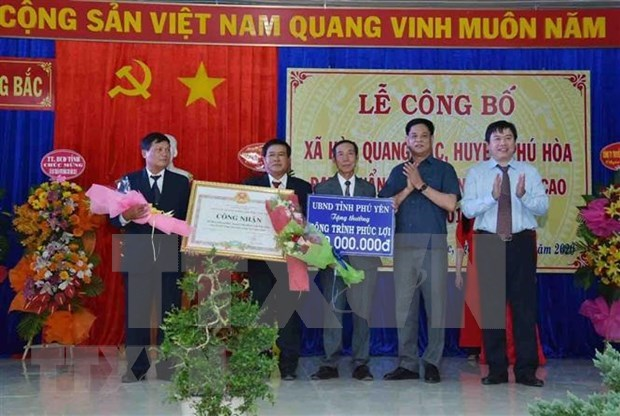 Phu Yen has first advanced new-style rural commune hinh anh 1