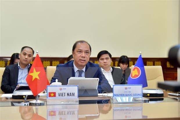 ASEAN senior officials meet online hinh anh 1