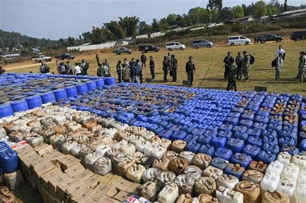 Myanmar seizes Southeast Asia's biggest synthetic drugs hinh anh 1
