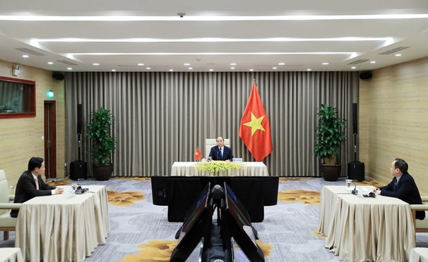 PM attends online meeting of 73rd World Health Assembly hinh anh 1