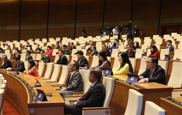 First working day of 14th National Assembly's ninth session hinh anh 1