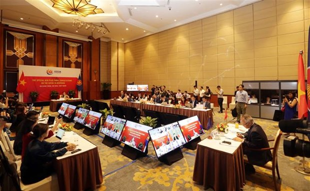 ASEAN+3 Economic Ministers adopt joint statement on COVID-19 response hinh anh 1