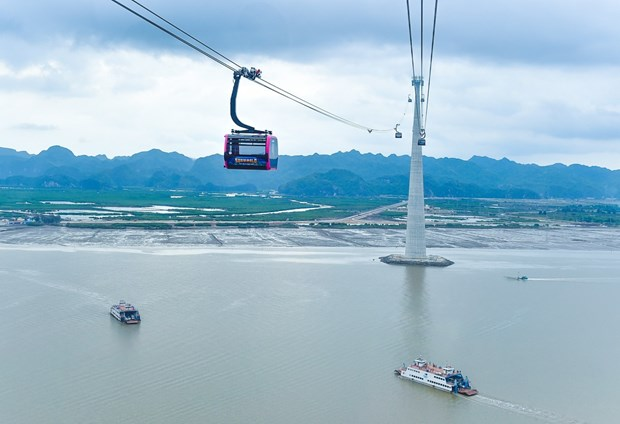 Cable line with world's highest track rope to be inaugurated in Hai Phong hinh anh 1