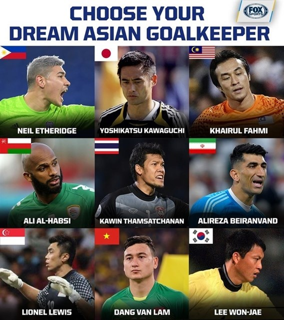 Lam named as one of Asia's best nine goalies by FOX Sports hinh anh 1