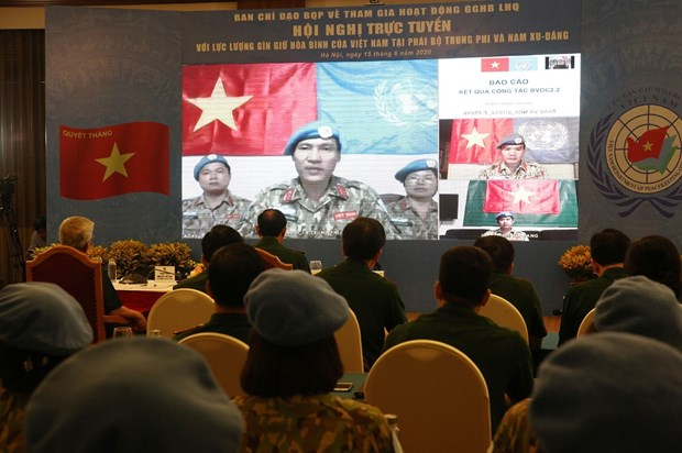 Vietnamese peacekeepers report on COVID-19 prevention hinh anh 1