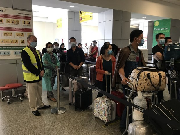 Nearly 310 Vietnamese citizens return home from Angola hinh anh 1