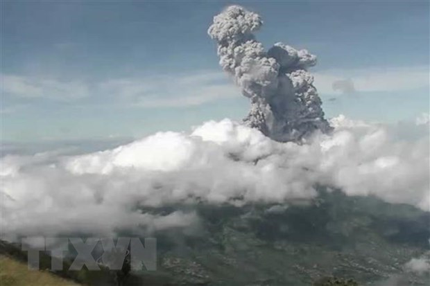 Indonesia's Merapi volcano erupts, highest flight alert issued hinh anh 1