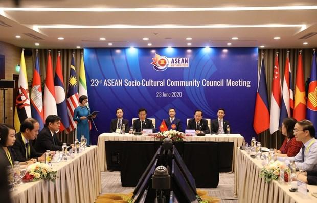 ASEAN Social-Cultural Community Council convenes 23rd meeting hinh anh 1