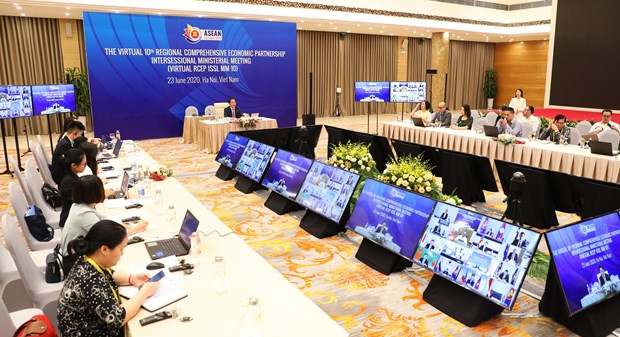 Ministers of RCEP member countries begin videoconference hinh anh 1