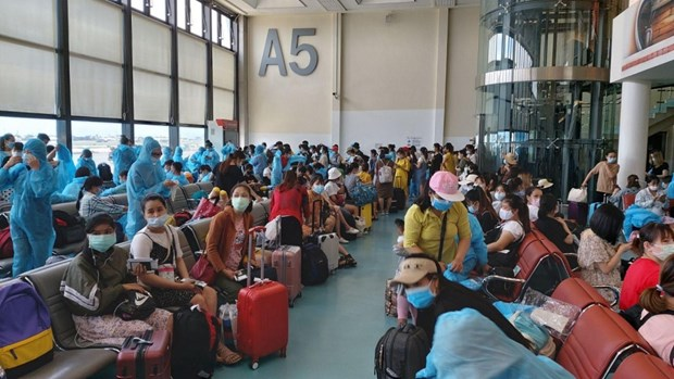 Over 340 Vietnamese citizens brought home from Taiwan hinh anh 1