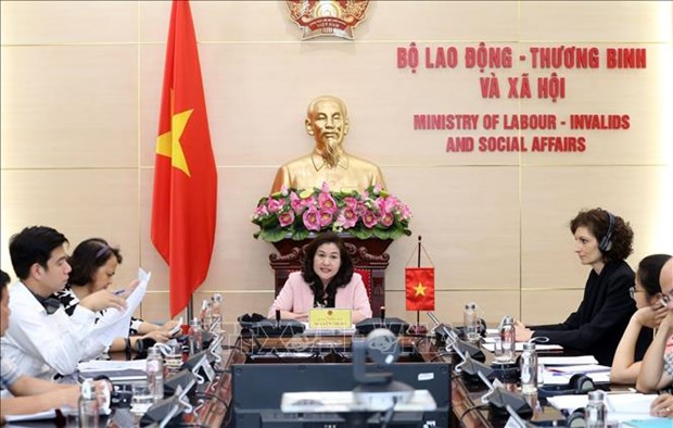 Vietnam, Switzerland discuss pushing labour collaboration after COVID-19 hinh anh 1