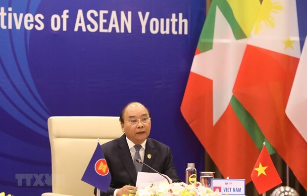 ASEAN leaders hold dialogue with ASEAN youth hinh anh 1