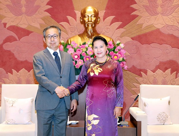 Top legislator receives Japanese ambassador hinh anh 1
