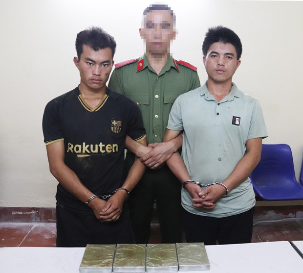 Son La: Two men caught with four bricks of heroin hinh anh 1
