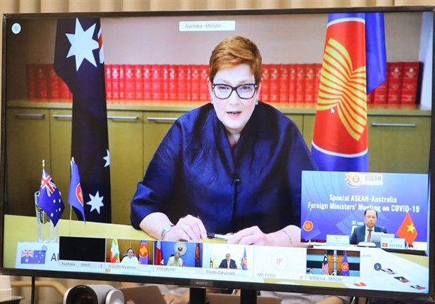 Special ASEAN-Australia ministers' conference stresses COVID-19 fight cooperation hinh anh 1