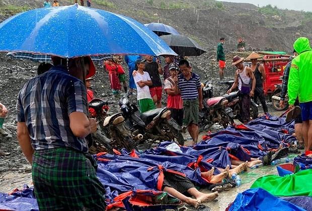 PM sends sympathies to Myanmar leader over jade mine landslide hinh anh 1