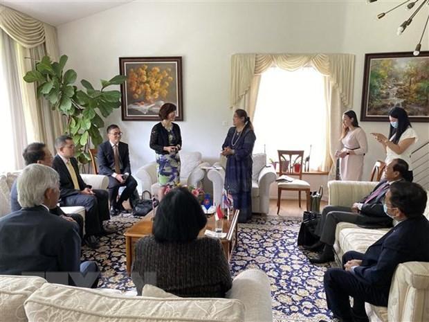 Vietnam undertakes Chairmanship of ASEAN Committee in Bern hinh anh 1
