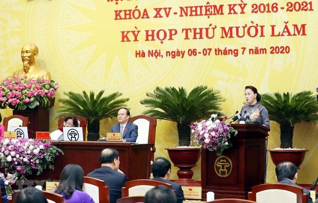 NA leader hails Hanoi's socio-economic development efforts hinh anh 1