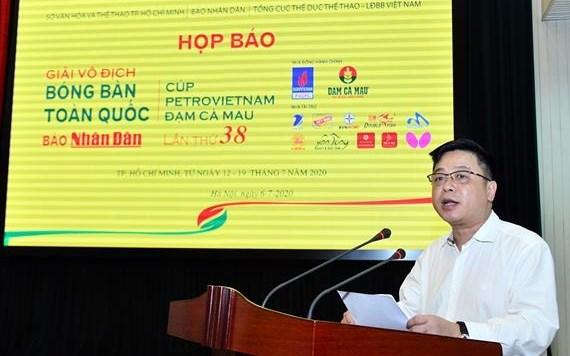 Nhan dan newspaper's national table tennis championships on horizon hinh anh 1