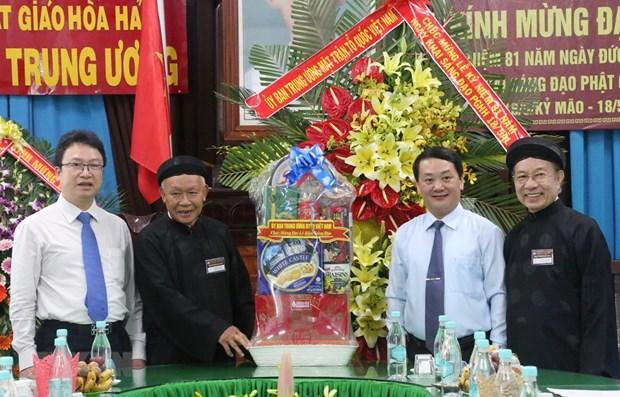 VFF leader congratulates Hoa Hao Buddhism anniversary hinh anh 1
