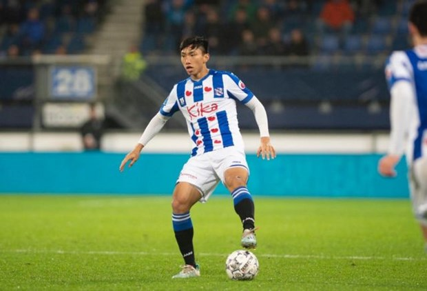 Hanoi FC offers to help pay for Hau to stay at SC Heerenveen hinh anh 1