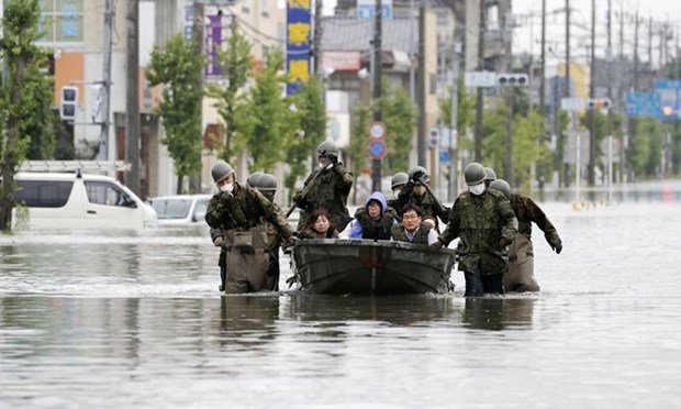 Sympathies to Japan over losses by torrential rains hinh anh 1