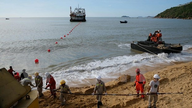 VNPT-invested undersea cable connected to Vietnam hinh anh 1