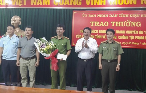 Traffickers of large heroin amount arrested in Dien Bien hinh anh 1