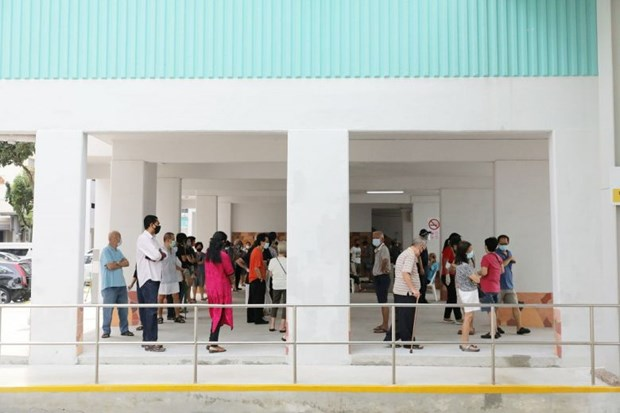 Singaporeans cast ballots in general election hinh anh 1