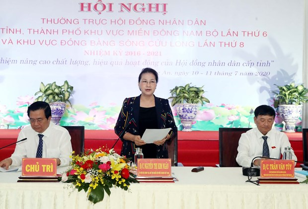 NA leader attends conference of southern localities' People's Councils hinh anh 1
