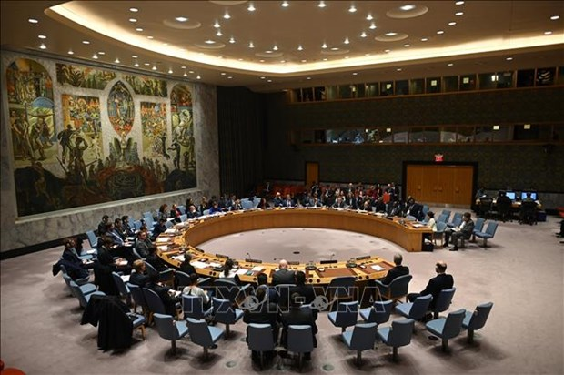 UNSC holds first in-person meeting after four months hinh anh 1