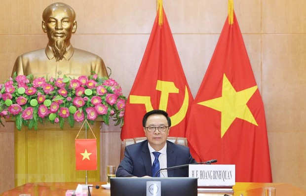 Vietnam attends virtual international conference of political parties hinh anh 1