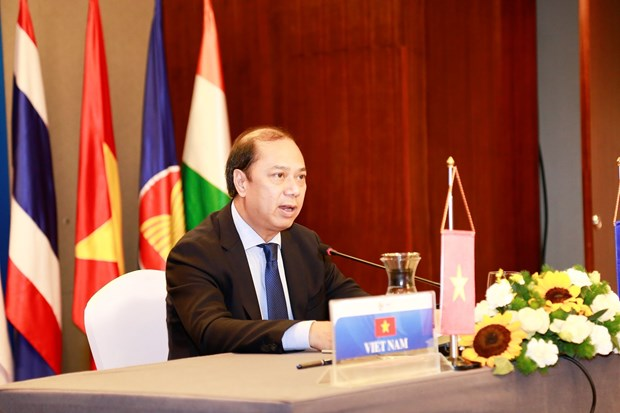 ASEAN, Indian senior officials gather at online 22nd meeting hinh anh 1