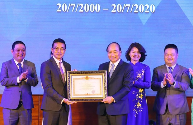 Stock market celebrates 20th birthday hinh anh 1