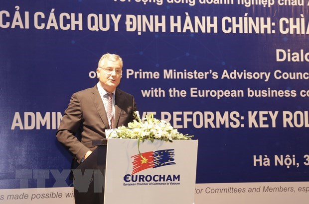 European firms more positive about Vietnam's business climate hinh anh 1