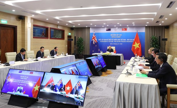 Vietnam, New Zealand issue Joint Statement on Strategic Partnership hinh anh 1