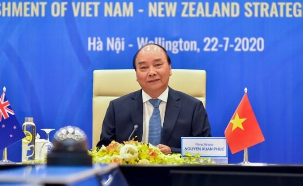 Vietnam, New Zealand lift bilateral ties to strategic partnership hinh anh 1