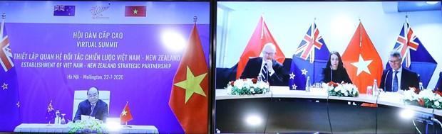 Vietnam, New Zealand lift bilateral ties to strategic partnership hinh anh 2