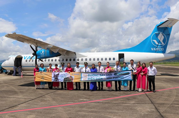 Vietnam Airlines launches Dien Bien - Hai Phong flights hinh anh 1