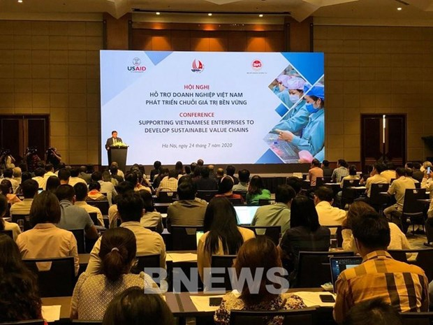 Conference highlights development of businesses' sustainable value chains hinh anh 1