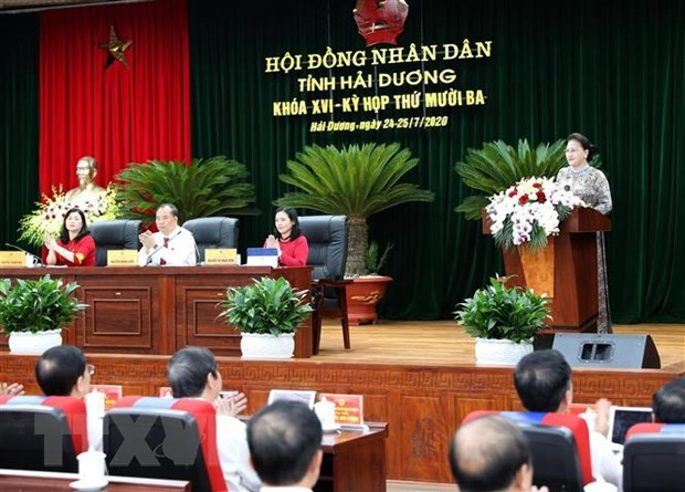 NA leader asks Hai Duong to support those affected by COVID-19 hinh anh 1