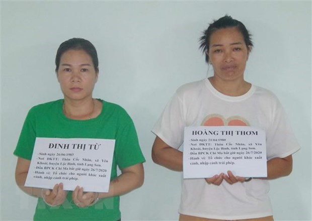Two women arrested for arranging illegal entries into Vietnam hinh anh 1