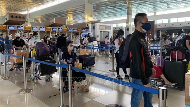 More than 210 Vietnamese citizens brought home from Indonesia hinh anh 1