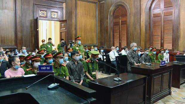Security disturbance case in HCM City goes to court hinh anh 1