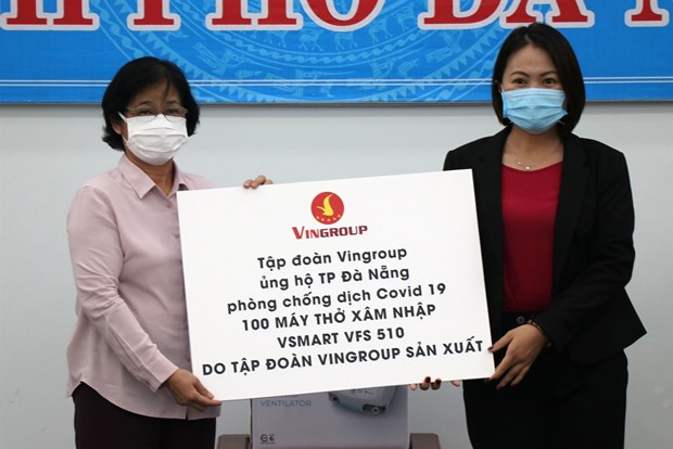 Businesses support Da Nang combat COVID-19 hinh anh 1